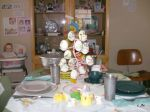 Dining Room Table Decorated for Easter