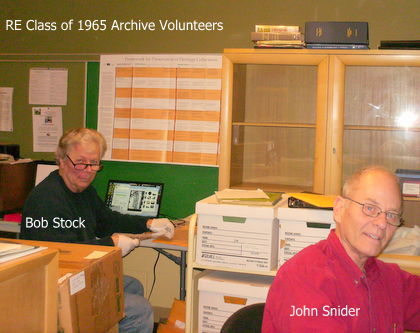 Bob Stock and John Snider, archive volunteers